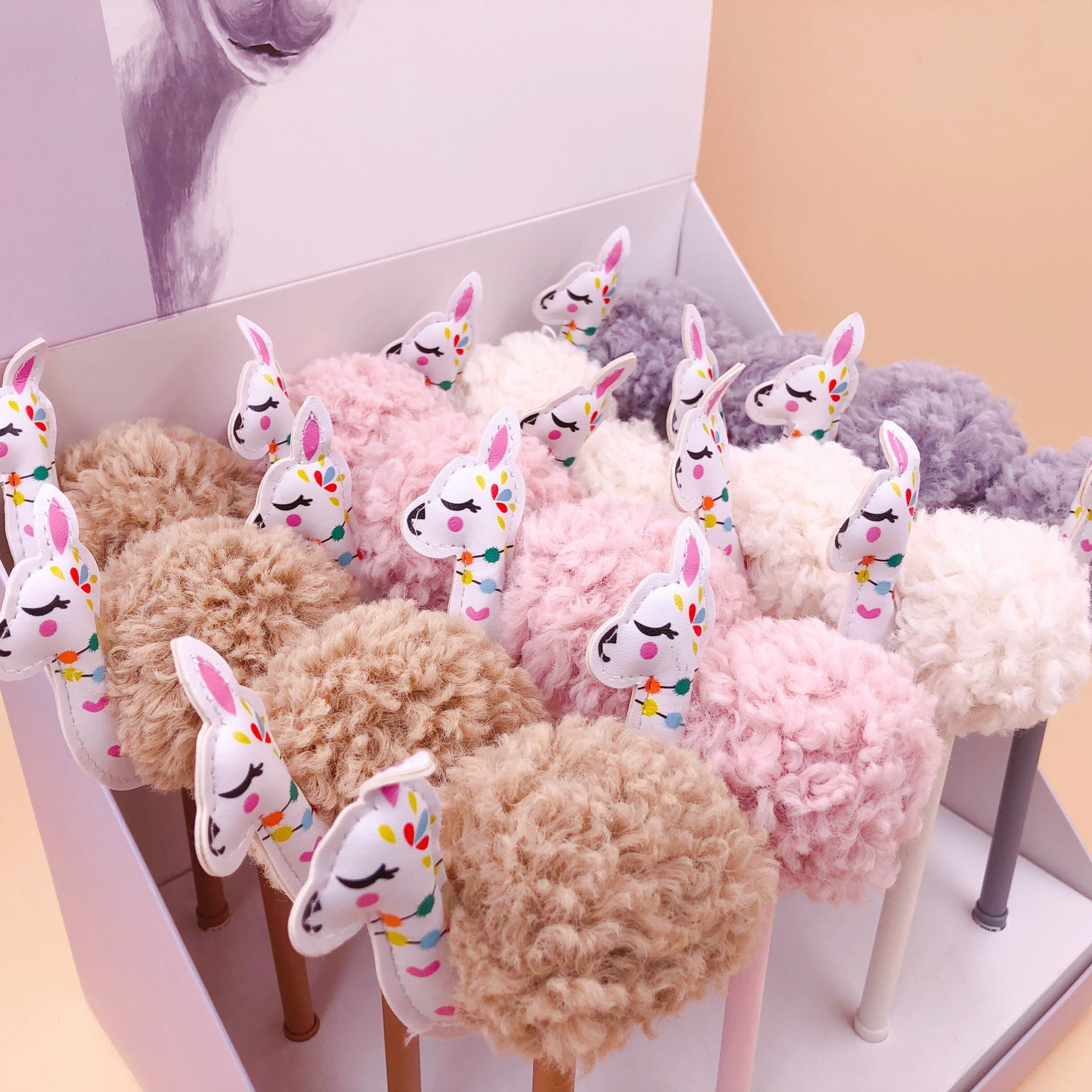 Plush Cartoon Alpaca Gel Pen Signature Pen Escolar Papelaria School Office Supply Promotional Gift