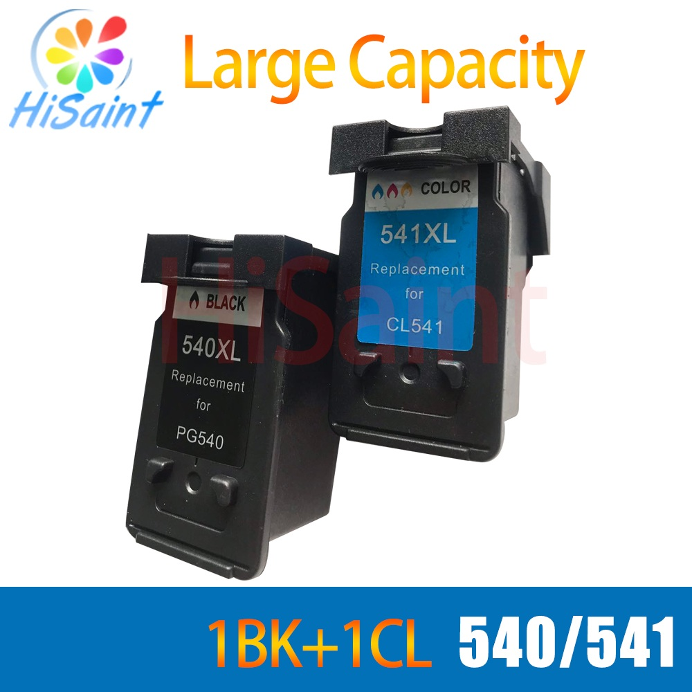 hisaint For Canon 540 541 PG 540 CL 541 Ink Cartridges For Canon MG2150 MG2250 MG3150 MG3250 MG3550 Printer Hot Product 2017 for canon 545 pg545 pg545xl printer ink cartridges free shipping hot sale