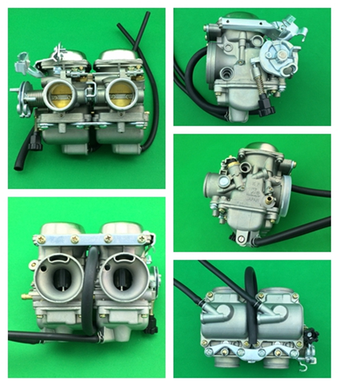 double head carburetor  and intake pipe for CBT125 -PD26JS KUNFU-DOUBLE HEAD carburetor original 26mm mikuni carburetor for cbt125 cb125t cbt250 ca250 carburador de moto