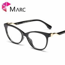 MARC 2019 Fashion Clear lens Women Trend Frame Glasses Eye wear Metal Cat eye Leopard print High quality Red Eyeglasses 1