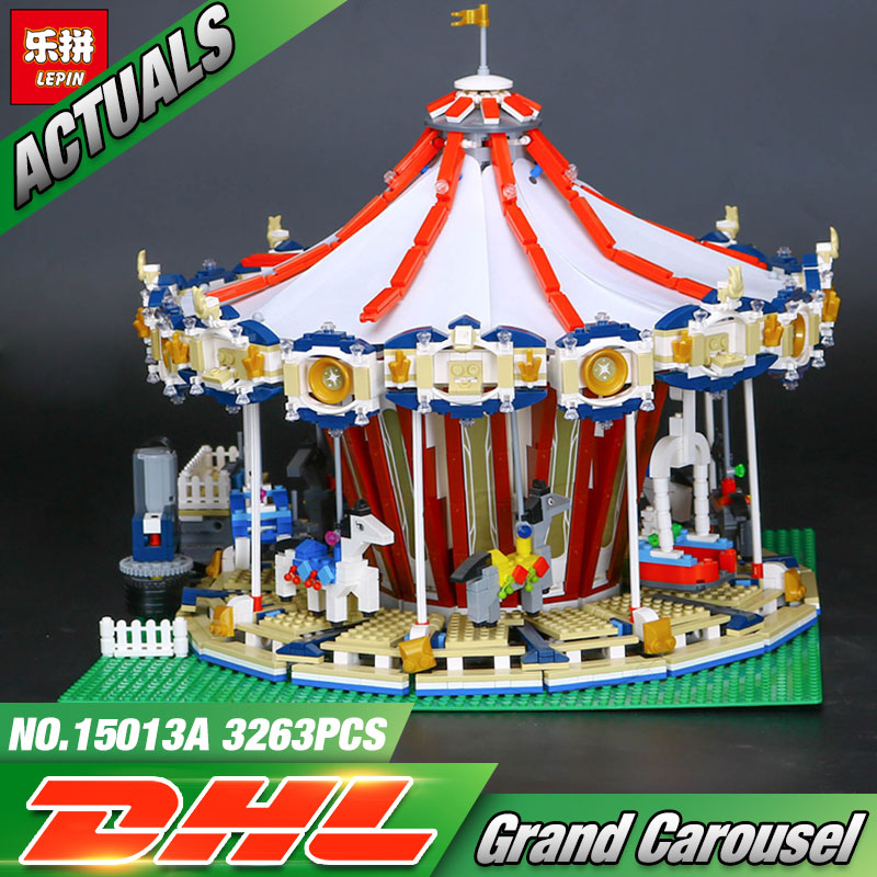 Lepin 15013 City Sreet Carousel Model Building Kits Blocks Toy Compatible 10196 Christmas Gift цена