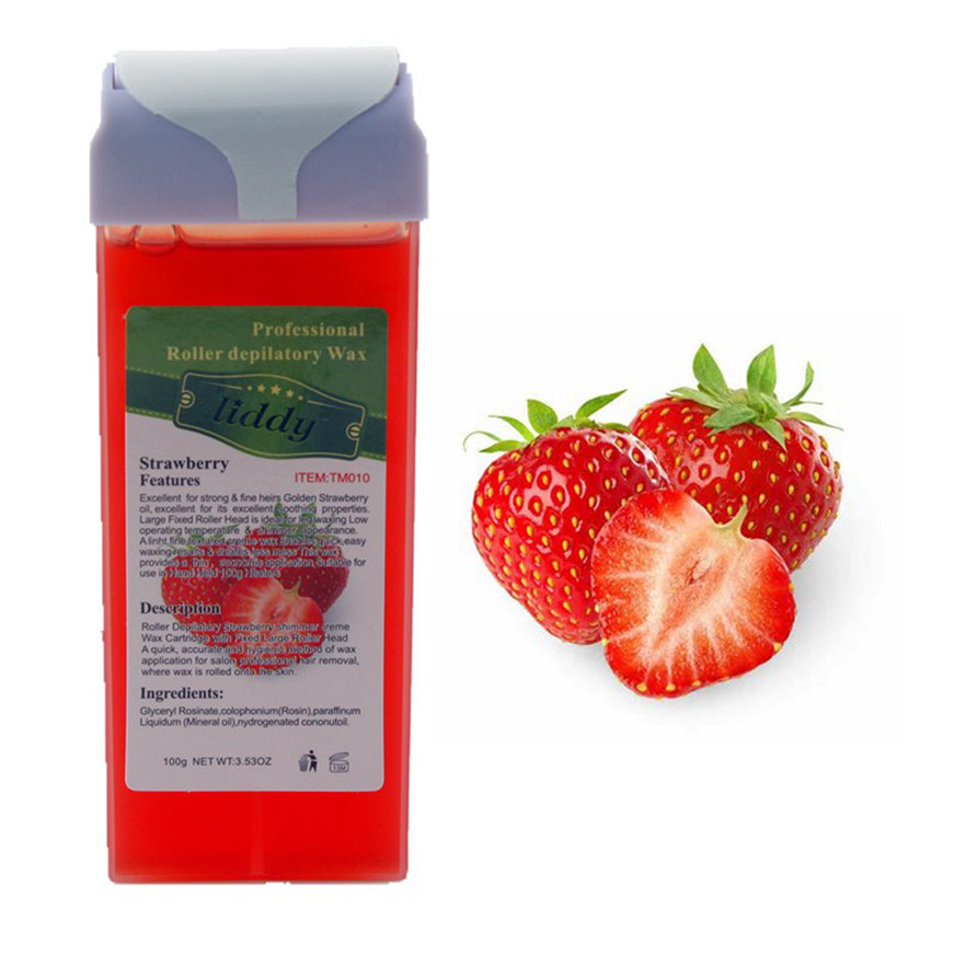 2017 A# Strawberry  Roll On Hot Depilatory Wax Cartridge Heater Waxing Hair Removal
