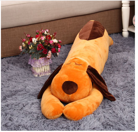 big lovely plush lying dog toy stuffed brown lying dog pillow doll about 120cm 0007 fancytrader 120cm super lovely jumbo plush shar pei dog toy large dog doll sleeping pillow gift for child free shipping ft50048