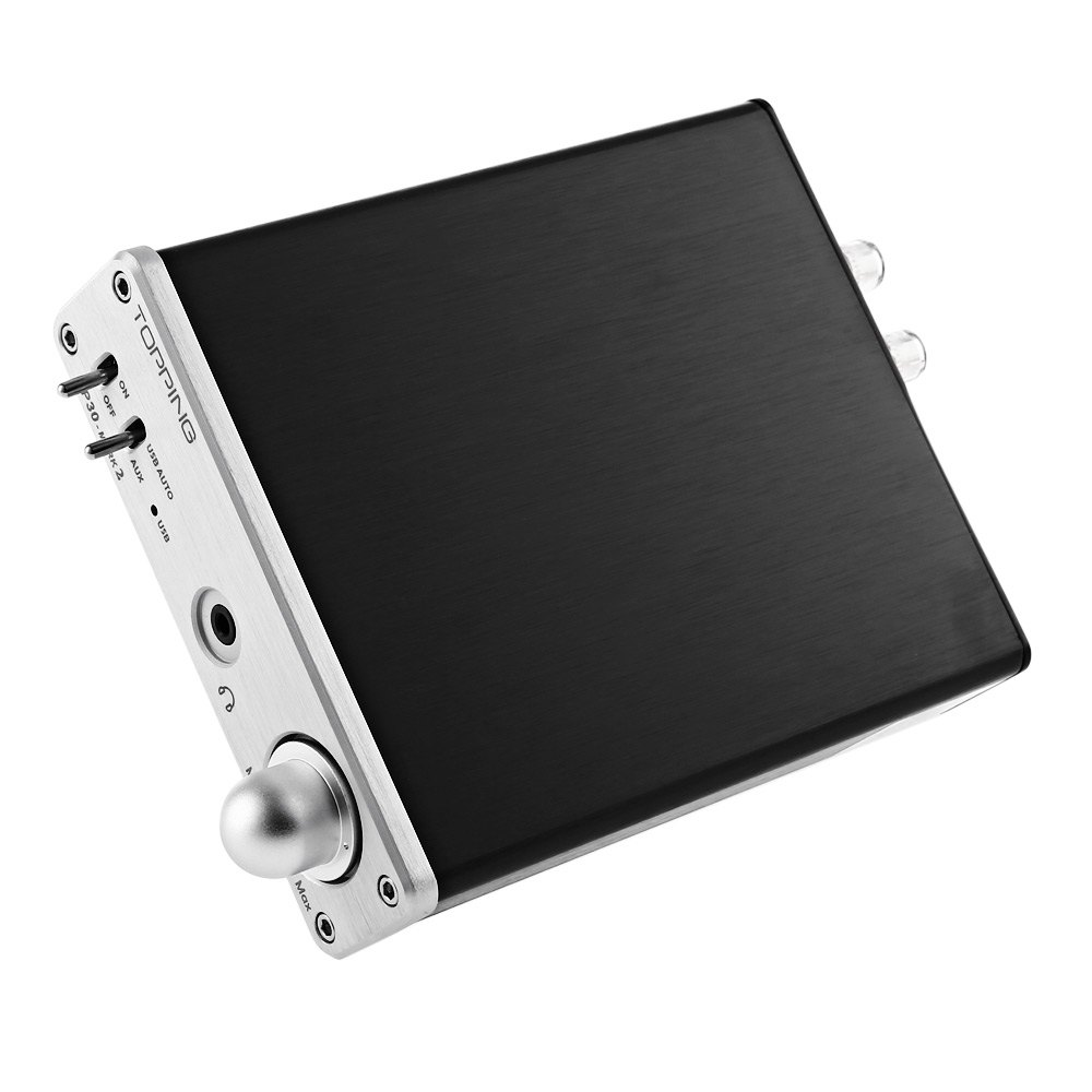 2017 Original TOPPING TP30MK2 3 in 1 Mini Multi-function HiFi Amplifiers 16bit 48KHz USB DAC Portable Home Amplifier Silver original topping nx3 portable usb dac headphone amplifier hifi stereo audio amplifier amp tpa6120a2 black silver amplificador