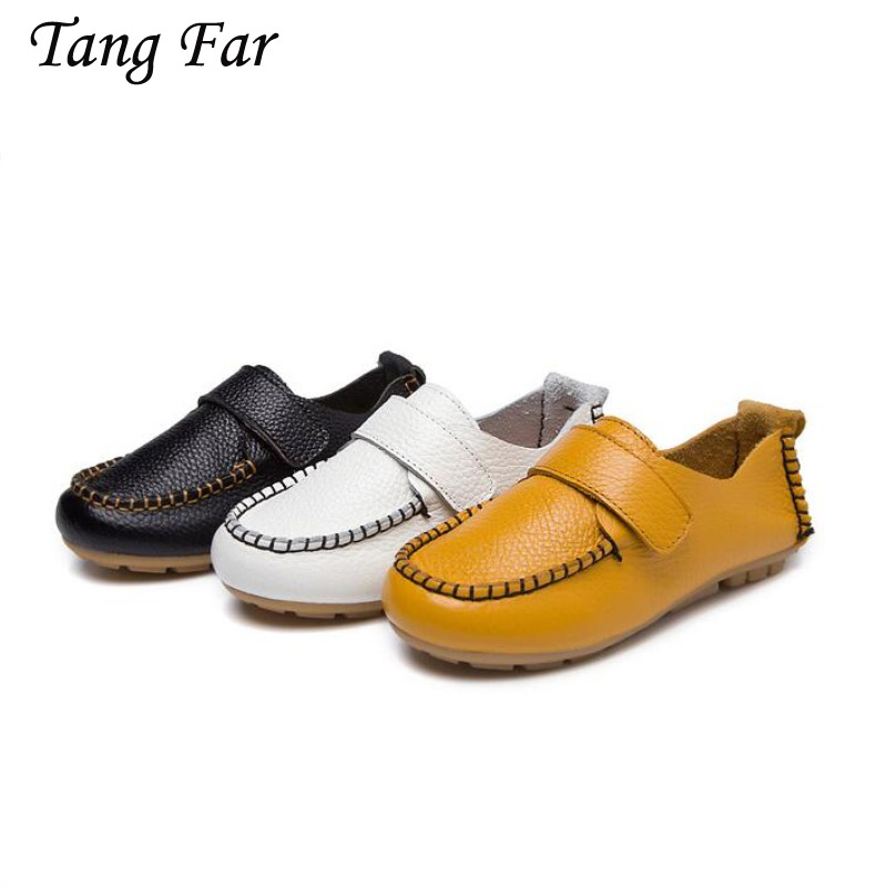 Children Shoes Genuine Leather Infant Performance Shoes Kids Sneakers Fashion Boys Casual Shoes Anti-Slippery