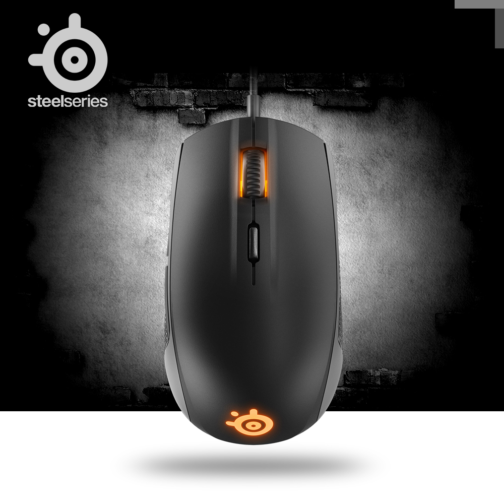 Original SteelSeries Rival 100 DOTA 2 Gaming Mouse Optical 4000DPI USB Wired Mice With Prism RGB Illumination For LOL CS цена