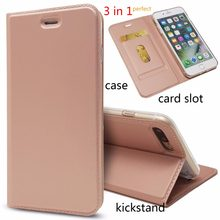 For iphone 8 7 case gentle leather 3in1 Automatic Magnetism Card Slot protective book case for iphone8 iphone7 flip cover(China)