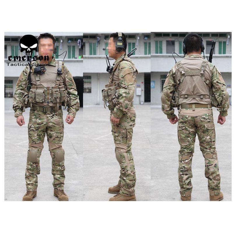USMC A-TACS Camo Tactical Airsoft Uniforms EMERSON-II generation frog tight combat camouflage suits clothing set kryptek mandrake frog fighting suit police frog uniforms army trainning uniform set one long sleeve shirt and one tactical pant