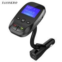 Автомобильный fm-передатчик Bluetooth беспроводной в автомобиле радио автомобильный комплект AUX Bluetooth громкая связь и Dual USB зарядное устройство П...