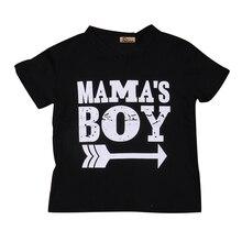 Г. Детские топы с принтом «Мама и мальчик», черная хлопковая футболка с короткими рукавами и рисунком стрелы для маленьких мальчиков летняя повседневная одежда SS