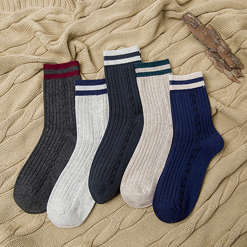 4Pair Funny Socks Men Chaussette Homme Mens Novelty Socks Brand New Mens Stripe Thermal Socks Funny Calcetines Hombre