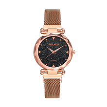 Luxury Diamond Starry Sky Women Watches Rose Gold Magnetic Mesh Ladies Quartz Wrist Watch Clock Gift Relogio Feminino