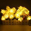Батарейках 2 М 20LED Праздник Света LED Цветок Розы Фея Огни Строки для Свадьбы Garden Party Рождество Украшение Партии