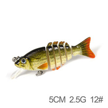 BATULLY Fishing Swimbait Glide Swimming 5cm 2.5g Hard Lure 6 Segment Fishing Lure Culter Fresh Water High Quality Fish Bait