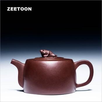 220cc Authentic Yixing Teapot Health Care Purple Clay All Handmade China Kung Fu Tea Set Zisha Kettle Tea Pot Red Gold Toad Pot