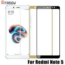 Couvercle complet en verre trempé pour Xiaomi Redmi Note 5 version mondiale 9 H protecteur décran pour Redmi Note5 Pro Film de protection en verre