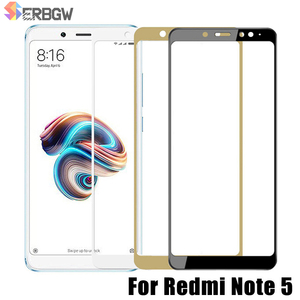 Image 1 - Full Cover Tempered Glass For Xiaomi Redmi Note 5 Global version 9H Screen Protector For Redmi Note5 Pro Protective Glass Film