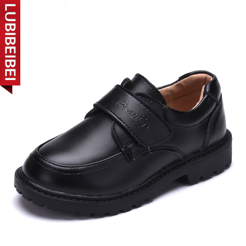 LUBIBEIBEI Genuine Leather Children Shoes Soft Bottom Kids Shoes Performance Black School Shoes For Boys Sapato Menino KS103
