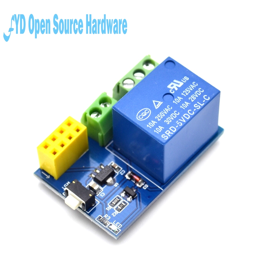 US $12 66 |5pcs ESP8266 ESP 01S Relay Module Remote Switch Phone APP DIY  Project Design Kit-in Integrated Circuits from Electronic Components &
