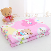 Waterproof 80x120cm Cotton Diaper Changing Mat Multifunction Baby Reusable Changing Pad/Covers For Baby Diapers Nappy Bed Sheet
