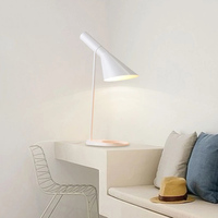 Modern Led simple Table Lamp Northern Europe Bedroom Bedside lamp Art Simple AJ Desk Lamp Office Decorate Table Light Luminaria
