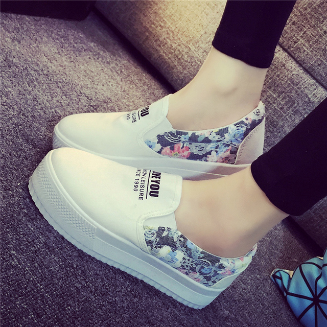 2017 women Casual shoes loafers heavy-bottomed canvas shoes a pedal lazy casual shoes flat shoes