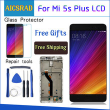 LCD display for xiaomi MI5S plus 5.7 inch touch screen mi5s plus Digitizer assembly Button Light Frame with Free Tools