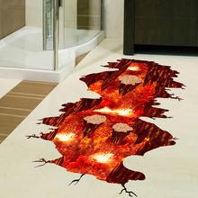 Magma 3D Wall Sticker Removable PVC Decorative Decals for Floors And Walls Decoration