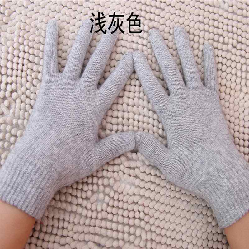 Hot Sales Autumn and winter Hot Sales New Women Knit cashmere wool blend gloves warm cashmere solid color gloves
