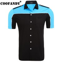 COOFANDY 2017 New Arrivals Top Selling Shirts For Men Men's Short Sleeve Contrast Color Patchwork Pocket Button Down Shirt