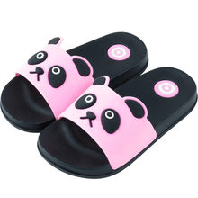 dd0f78bb1 Домашние тапочки для детей, семейная обувь, сандалии для девочек с рисунком  кота, Детские Тапочки для ванной, пляжные сандалии, .