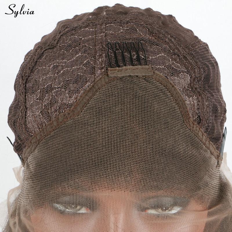 Sylvia Rose Gold Farbe Haar Natur Welle Synthetische Spitzefront