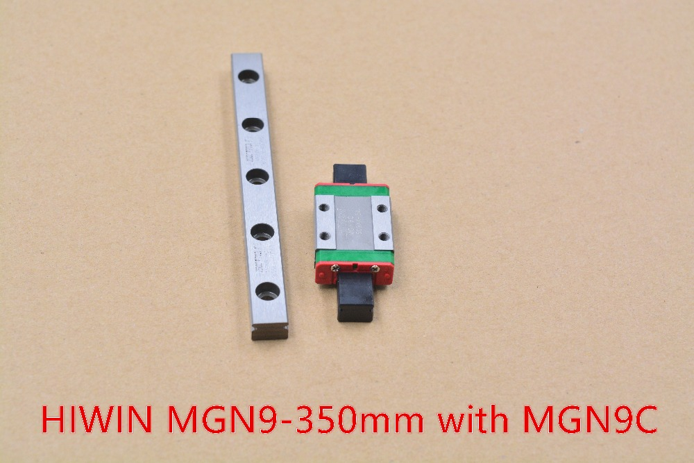 HIWIN MR9 9mm linear guide rail stainless steel rail MGN9 length 350mm with MGN9C or MGN9H linear block 1pcs