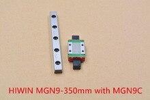 MR9 9 мм линейный рельс из нержавеющей стальной рельс MGN9 HIWIN длина 350 мм с MGN9C или MGN9H линейный блок 1 шт.