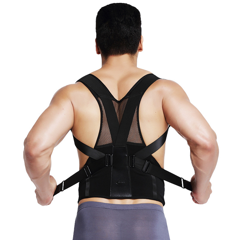 Back Posture Corrector burning man Shoulder Lumbar Brace Spine Support Braces Shapers For Men Women bodysuit Correct posture ...
