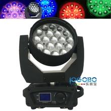 Beste 12Wx19 Mac Aura Zoom Led Moving Head 14/25 DMX Kanal mit Waschen/Strahl/Auge-Candy Aura wirkung Studio Lampe Beleuchtung Ausrüstung