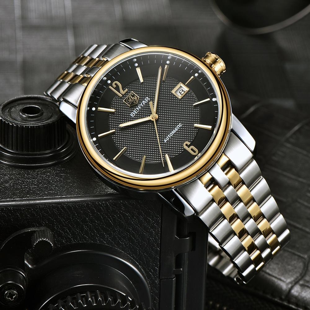 BENYAR Luxury Mechanical Men Watches Fashion Full steel Fashion Casual Waterproof Automatic Watch Men s Clock
