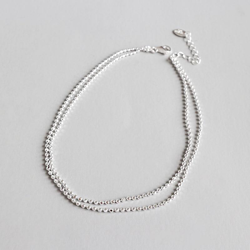 Authentische 925 Sterling Silber Multi-layers & Kleine Glück Runde Ball Perlen Fußkettchen Armband Einstellen Feine Schmuck Tls126 Komplette Artikelauswahl