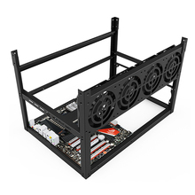 Sever rack mining machine case 8/12 Video card ETH XMR bitcoin miner rig graphics frame computer Dual power supply bit chassis D