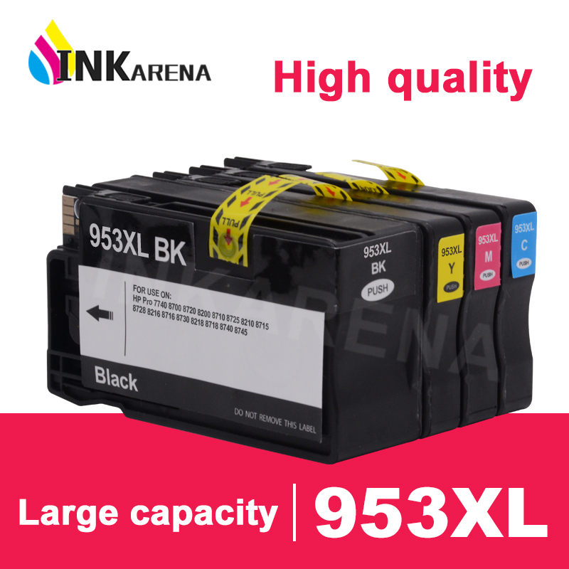 INKARENA Compatible For <font><b>HP</b></font> <font><b>953</b></font> XL Ink Cartridge For <font><b>HP</b></font> Officejet Pro 7740 8210 8218 8710 8715 8718 8719 8720 8730 8740 Printer image