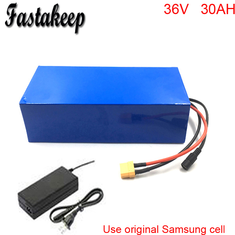 High quality 36V 1000W Electric Bicycle Battery 36V 30Ah Lithium ion Battery Pcak with 30A BMS 2A Charger