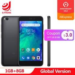 """Первоначально Глобальный Версия Xiaomi Redmi GO 1 GB 8 GB телефон Snapdragon 425 4 ядра 5,0 """"5MP + 8MP Камера 3000 mAh Батарея смартфон"""