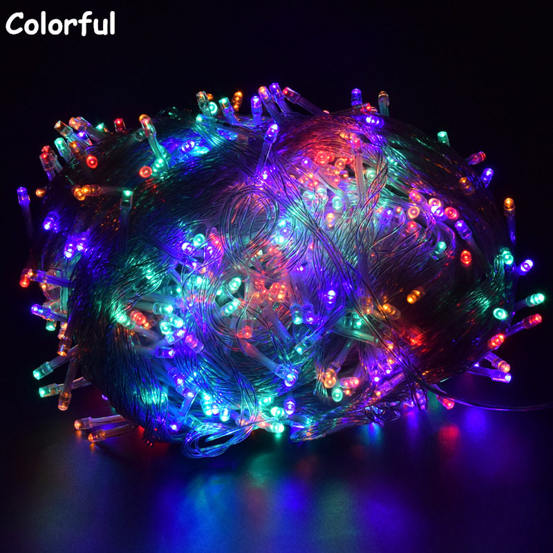 Led Garland String <font><b>Lights</b></font> 10M/20M/30M/50M/100M EU/US Christmas Fairy <font><b>Lights</b></font> indoor <font><b>Home</b></font> Street Garland Party Holiday <font><b>Decoration</b></font> image