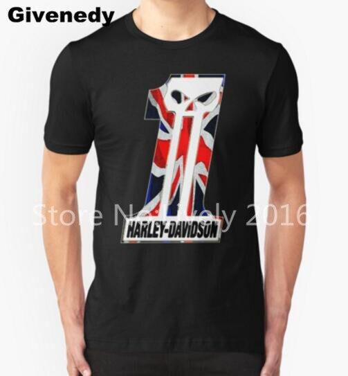 Британский мотоциклистов хлопок мужские футболки модные футболки новый случайный печати с коротким рукавом мужчины смешные футболки