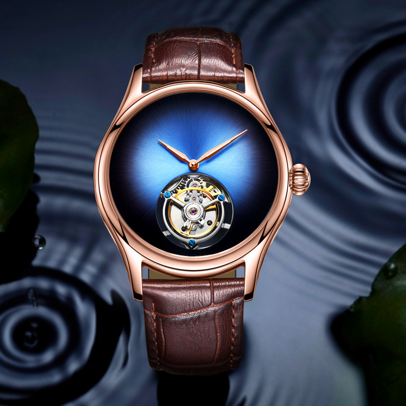 Originele Heren Merk Luxe Automatische Mechanische Horloge Tourbillon Holle Mannen Business Waterdichte Sport Horloges Relogio Masculino-in Mechanische Horloges van Horloges op  Groep 3