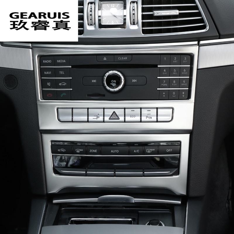 Car styling Intérieur Climatisation CD Panneau décoration Cover Version Pour Mercedes Benz Classe E Coupé W207 C207 auto Accessoires