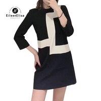 Черные платья, летние элегантные стильные женские платья 2019, мини платье с круглым вырезом