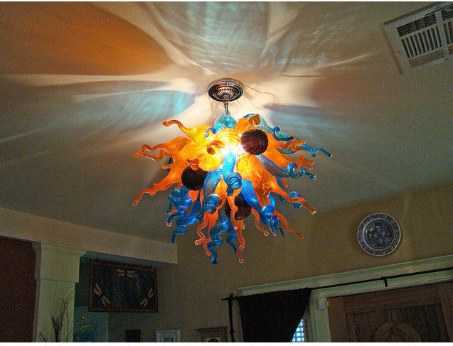 Hand Blown Glass Chandelier Hotel Decorative Light