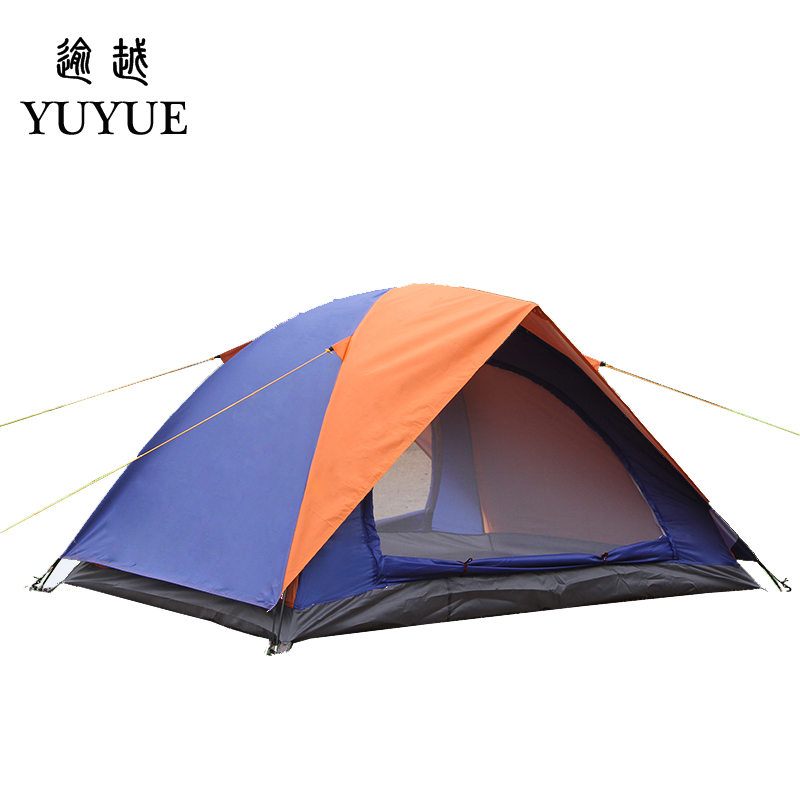 2 person UV protection camping tents for cleary day hiking tent for winter fishing double layer outdoor ultralight tent   0