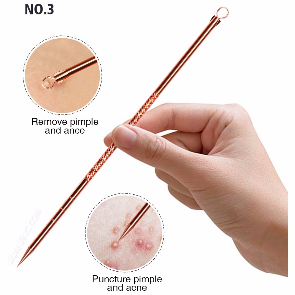 Beauty & Health ... Skin Care Tool ... 32796978341 ... 4 ... 4pcs Anti-Bacterial Double-ended Acne Needle Blackhead Remover Tool Stainless Steel Pimple Needle Facial Cleaning Tool Skin Care ...